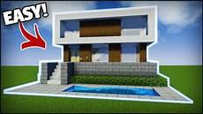 Minecraft Modern House Tutorial 1 Easy Tutorial