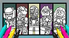 marvel 5 superheroes coloring page lego color