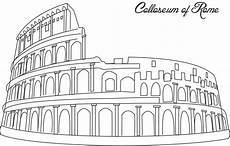 colloseum of rome coloring printable page for