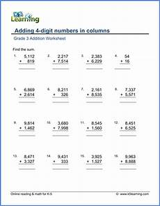 grade 3 math worksheet addition and subtraction grade 3 math worksheet addition adding 4 digit numbers