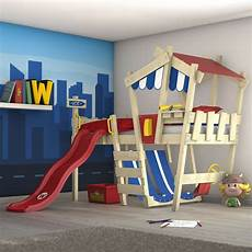 Lit Enfant Avec Toboggan Lit Mezzanine 90x200 Cm