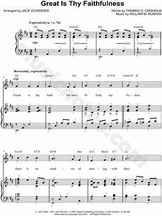 william m runyan quot great is thy faithfulness quot sheet music in d major transposable download