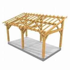 construire abri de jardin monopente auvent monopente en bois massif