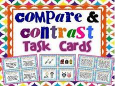 compare and contrast task cards compare contrast task