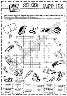 worksheets school supplies 18456 school supplies esl worksheet by vanda51