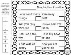 free cut and paste grammar worksheets punctuation practice cut and paste by honeybee happenings tpt