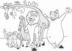 Madagascar Coloring Page  Pages Disney