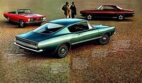 1968 Barracuda  Plymouth Car Brochures Pinterest