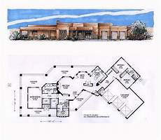 southwest house plans with courtyard southwest style house plan 54689 with 3 bed 3 bath 3