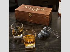 SCHAEFER PERSONALIZED WHISKEY STONES AND SHOT GLASSES