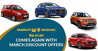 Maruti Suzuki Comes Again With March Discount Offers  SAGMart