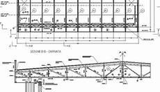 capannone industriale dwg copertura acciaio free file dwg dettagli cad dwglab