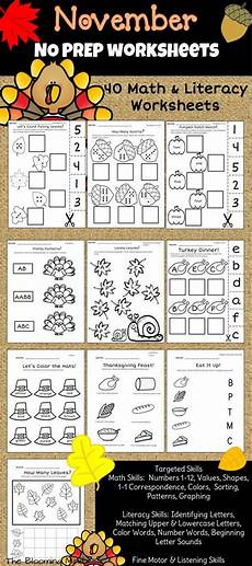 algebra worksheets sheet 8351 november no prep math and literacy literacy worksheets thanksgiving activities for