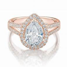 large pear halo engagement ring in rose gold secrets shhh
