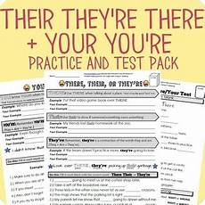 there their or they re your or you re worksheet packet