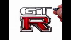 logo nissan gtr how to draw the nissan gtr logo