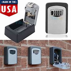 digit key box safe wall mount combination lock security