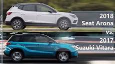 2018 seat arona vs 2017 suzuki vitara technical