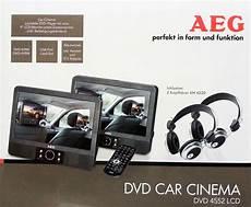 aeg dvd 4552 9 duo monitor dvd player car cinema mit