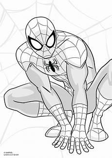 Ausmalbilder Superhelden Spider Scooli