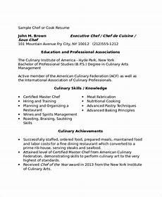 sle chef resume 9 exles in word pdf