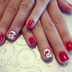 25 amazing red gel nail art designs for valentine s day