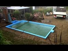 pool in erde einbauen projekt pool der einbau tag 7