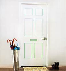 To Decorate Your Bedroom Door by How To Create A Faux Paneled Door With Washi Do It