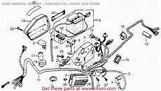honda express wiring diagram honda nc50 express 1982 usa wire harness battery ignition coil right side cover