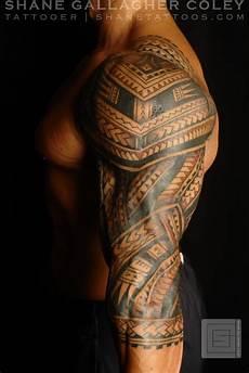 maorie oberarm shane tattoos polynesian sleeve