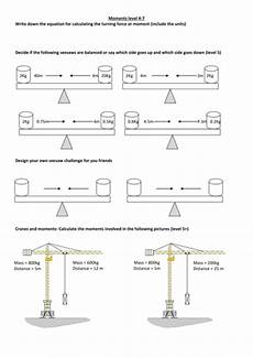 ks3 physics revision worksheets moments by