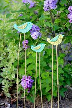 you like to craft garden bird stakes crafty