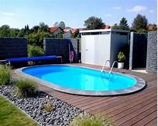 gartengestaltung mit kleinem pool swimmingpool im garten 6 budgetfreundliche ideen ovaler