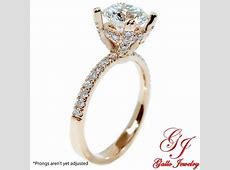 eng01798 rose gold under halo thin engagement ring center