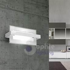 applique da parete moderni applique parete design moderno rettangolare vetro bianco