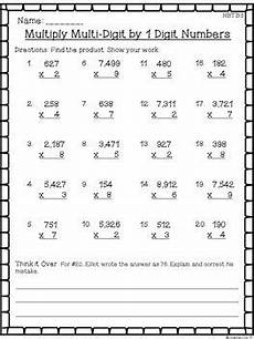 division practice worksheets 4th grade 6728 4th grade math worksheet bundle fractions place value 4 operations ccss