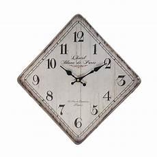 contemporary rhombus metal wall clock