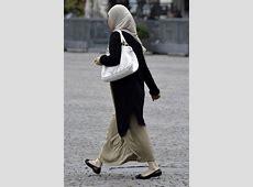Muslim Women in traditional dress in Delhi, India image
