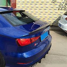 a3 s3 s line carbon fiber rear trunk spoiler wing for audi