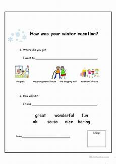 winter vacation esl worksheets 19994 how was your winter vacation worksheet free esl printable worksheets made by teachers