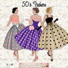Mode Der 60er Jahre - 12 fashion 50s polka dot dress light skin tone