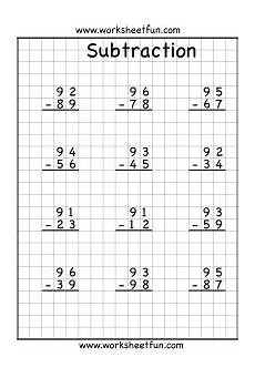 subtraction regrouping worksheets 2 3 4 digits