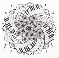 mandala piano mandala malvorlagen zentangle zeichnungen