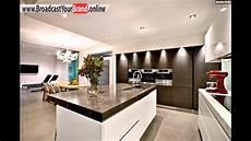 Küche Weiß Modern - wohnideen k 252 che modern wei 223 braun marmor arbeitsplatte