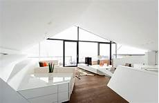 futuristic interior slope roof house with futuristic interiors
