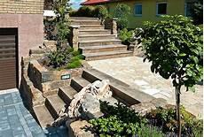 gartengestaltung mit naturstein naturstein f 252 r mauern und treppen gartengestaltung mit