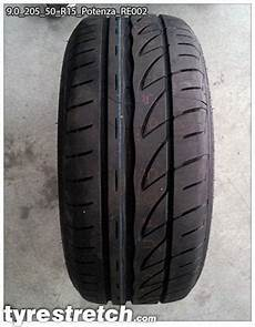 tyrestretch 9 0 205 50 r15 9 0 205 50 r15 potenza re002