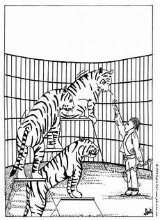Ausmalbilder Zirkus Tiger Zirkustiger Zum Ausmalen Zum Ausmalen De Hellokids
