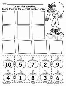 printable pumpkin number ordering worksheet 1 10 supplyme