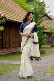 kerala style saree saree designs pin by smitha rajeev on kerala saree onam collection